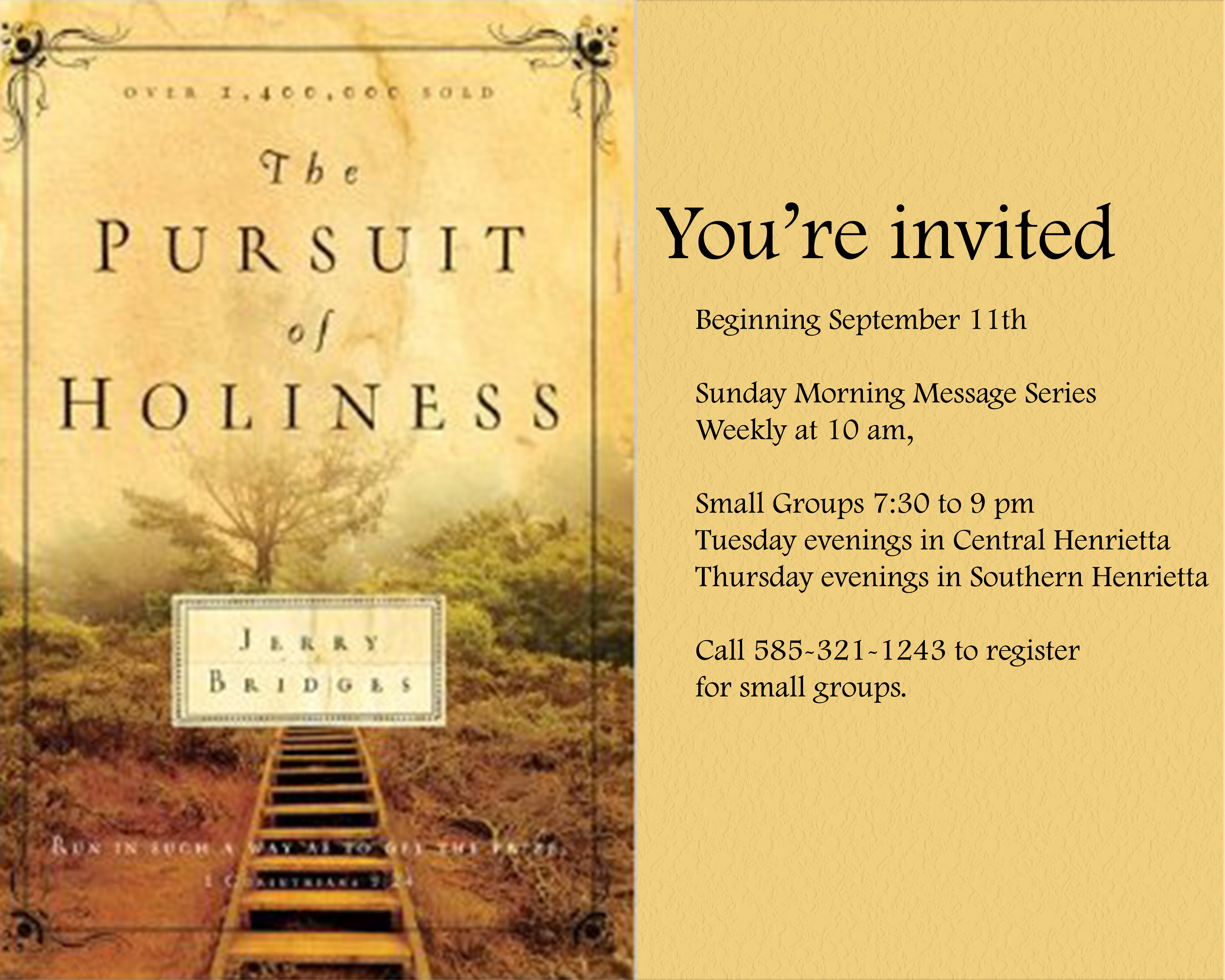 pursuit of holiness banner